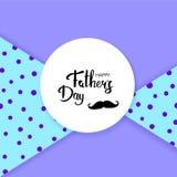 Tarjeta feliz del día del ` s del padre Ilustración del vector