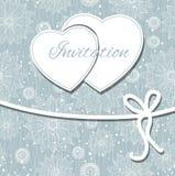 Tarjeta feliz del día y del weeding de las tarjetas del día de San Valentín. Imagen de archivo libre de regalías