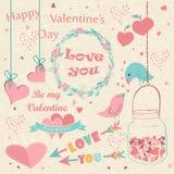 Tarjeta feliz del día de tarjeta del día de San Valentín Imagen de archivo libre de regalías