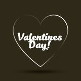 Tarjeta feliz del día de tarjetas del día de San Valentín Fotos de archivo