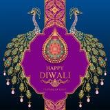 Tarjeta feliz del festival de Diwali libre illustration