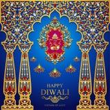 Tarjeta feliz del festival de Diwali