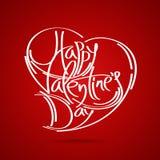 Tarjeta feliz del vector del día de tarjeta del día de San Valentín Imagenes de archivo