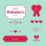 Tarjeta feliz del vintage del día de tarjeta del día de San Valentín ilustración del vector