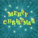 tarjeta Feliz Navidad Vector Fotografía de archivo