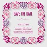 Tarjeta festiva de la invitación Fotografía de archivo