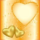 Tarjeta festiva del saludo o de la invitación con de oro él ilustración del vector