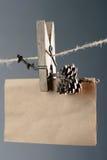 Tarjeta fijada del greetng Imagen de archivo libre de regalías