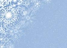 Tarjeta fina de la nieve de la Navidad Imagen de archivo libre de regalías