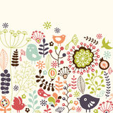 Tarjeta floral Fotografía de archivo