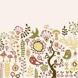 Tarjeta floral Imagen de archivo