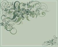 Tarjeta floral Foto de archivo libre de regalías