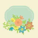 Tarjeta floral ilustración del vector