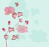 Tarjeta floral Fotos de archivo libres de regalías