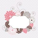 Tarjeta floral stock de ilustración