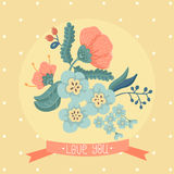 Tarjeta floral Foto de archivo