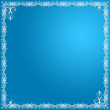 Tarjeta floral azul imagen de archivo