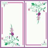 Tarjeta floral de la invitación Imagenes de archivo