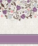 Tarjeta floral de la invitación Fotos de archivo