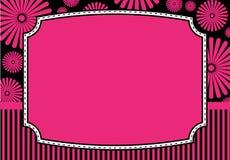 Tarjeta floral de la invitación Foto de archivo libre de regalías