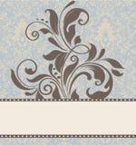 Tarjeta floral de la invitación Fotos de archivo libres de regalías