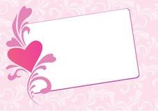 Tarjeta floral de la tarjeta del día de San Valentín Foto de archivo libre de regalías