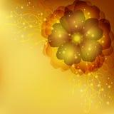 Tarjeta floral de oro de la invitación o de felicitación stock de ilustración