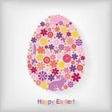 Tarjeta floral de Pascua