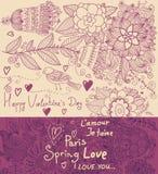 Tarjeta floral del día de fiesta Fotos de archivo libres de regalías