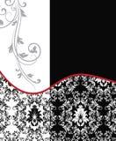 Tarjeta floral del damasco de la boda ilustración del vector