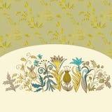 Tarjeta floral del fondo Imagenes de archivo