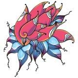 Tarjeta floral fantástica Imagen de archivo libre de regalías