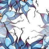 Tarjeta floral fantástica ilustración del vector
