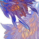 Tarjeta floral fantástica stock de ilustración