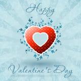 Tarjeta floral feliz del día de tarjeta del día de San Valentín Imagen de archivo