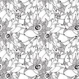 Tarjeta floral gráfica stock de ilustración