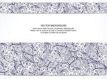 Tarjeta floral hermosa de la invitación. Blanco y negro. stock de ilustración