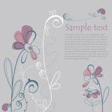 Tarjeta floral ilustrada Imagen de archivo libre de regalías