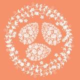 Tarjeta floral para el día de Pascua ilustración del vector