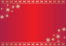 Tarjeta floral roja con gradiente Imagen de archivo