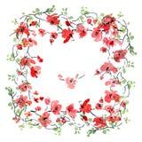 Tarjeta floral romántica libre illustration