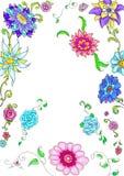 Tarjeta florida del fondo/del marco/de felicitación Fotografía de archivo