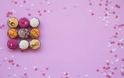 Tarjeta, fondo, dulces Foto de archivo