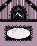 Tarjeta gótica de la vendimia Fotografía de archivo libre de regalías