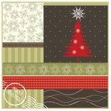 Tarjeta geeting de la Navidad Imagen de archivo libre de regalías