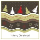 Tarjeta geeting de la Navidad fotografía de archivo libre de regalías