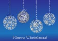 Tarjeta greting de la bola de la Navidad Fotos de archivo libres de regalías