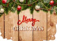Tarjeta gretting de la Navidad Fotografía de archivo