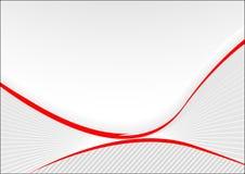 Tarjeta gris con las líneas rojas Ilustración del Vector