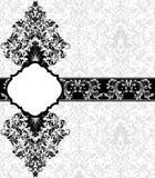 Tarjeta gris del damasco Imágenes de archivo libres de regalías